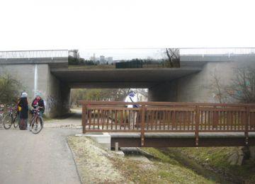 Autobahnbrücke A 661 bei Kalbach (Fotomontage)